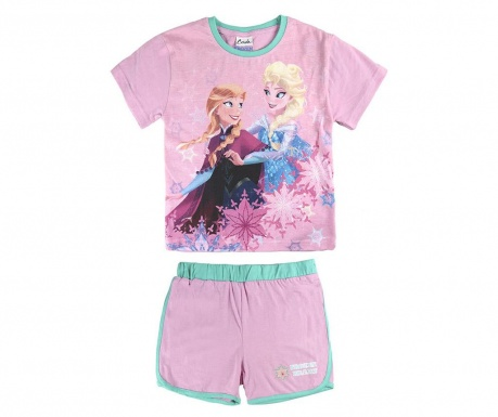 Set tricou si pantaloni scurti copii Frozen Heart 5 ani