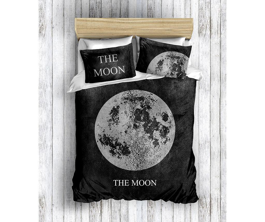 Lenjerie de pat King Ranforce Moon - The Club Cotton, Negru