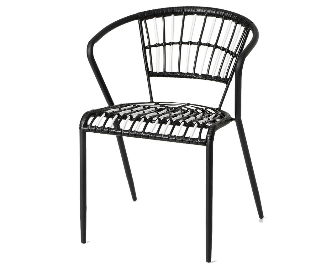 Scaun pentru exterior Lauren - Amadeus, Negru