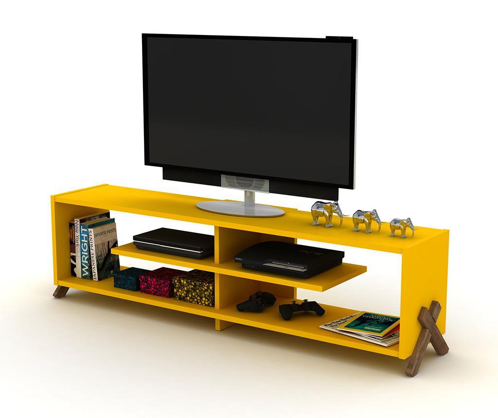 Comoda Tv Kipp Walnut Yellow - 14839