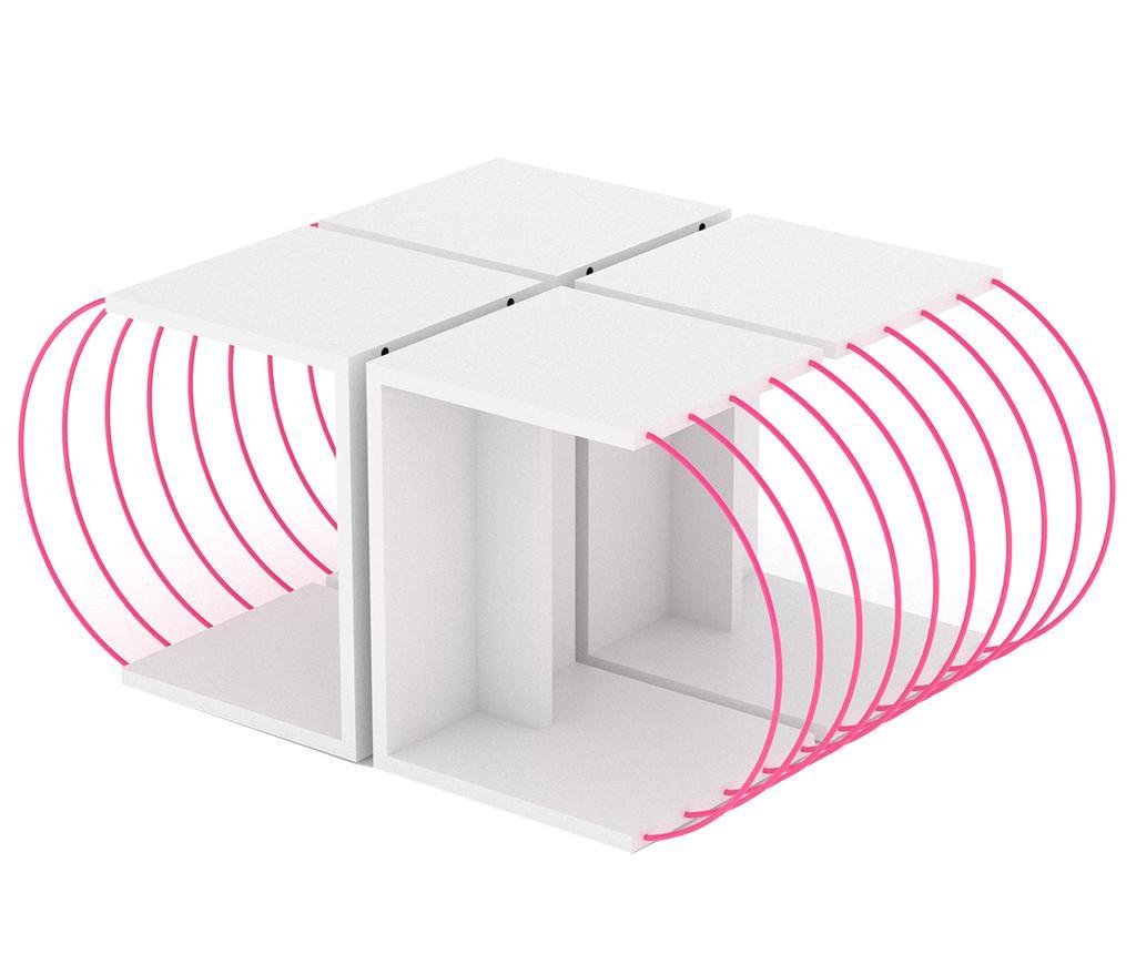 Set 4 masute Case White Pink - Rafevi, Alb