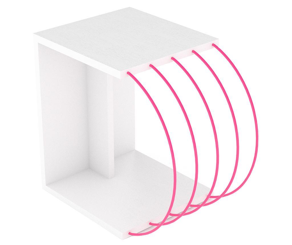 Masuta Case White Pink - Rafevi, Alb