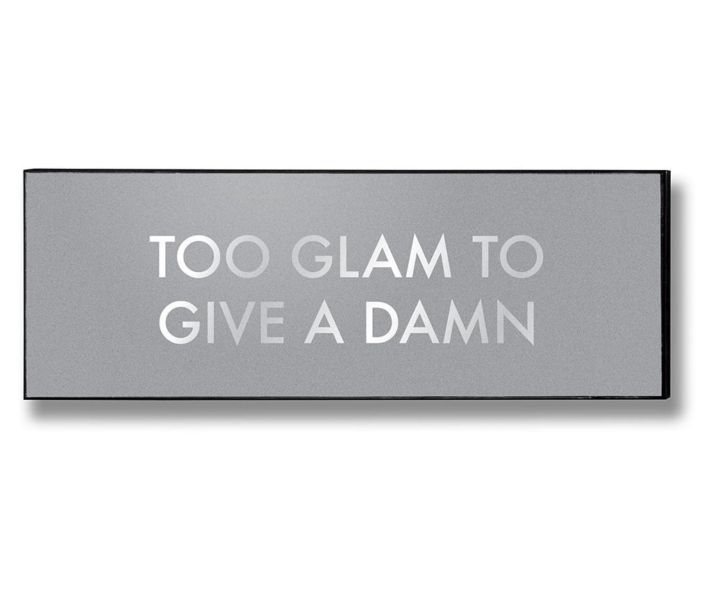 Decoratiune de perete Too Glam To Give - Hill Interiors, Gri & Argintiu