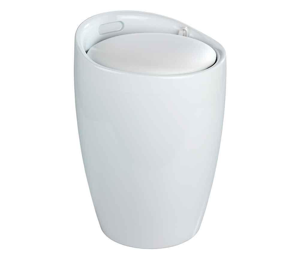 Cos cu capac pentru rufe Candy White 20 L - Wenko, Alb