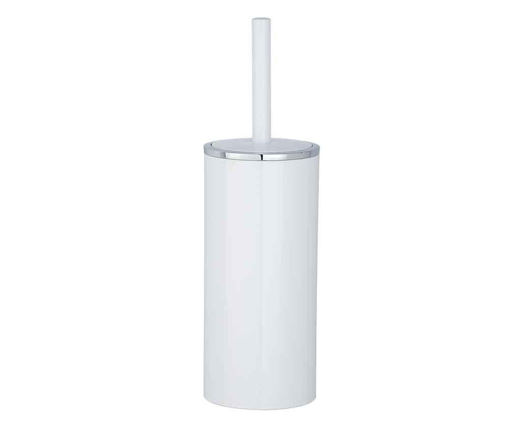 Perie de toaleta cu suport Incal White - Wenko, Alb