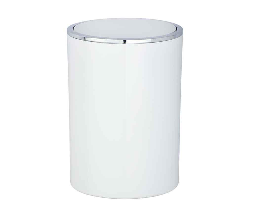 Cos de gunoi cu capac Incal White 5 L - Wenko, Alb