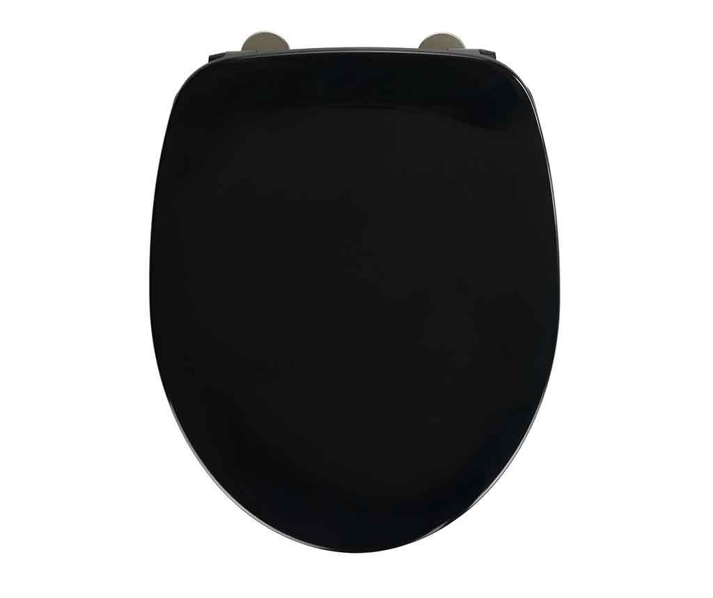 Capac pentru toaleta Armonia Black - Wenko, Negru