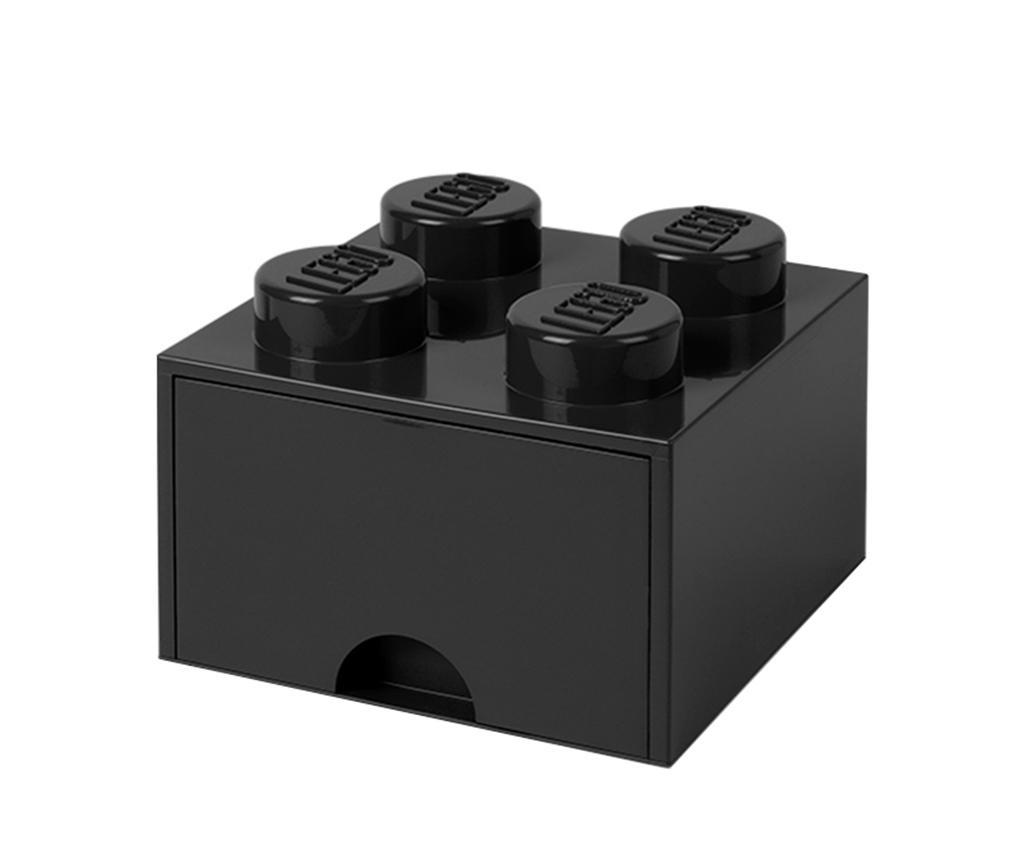 Cutie pentru depozitare Lego Square One Black - LEGO, Negru