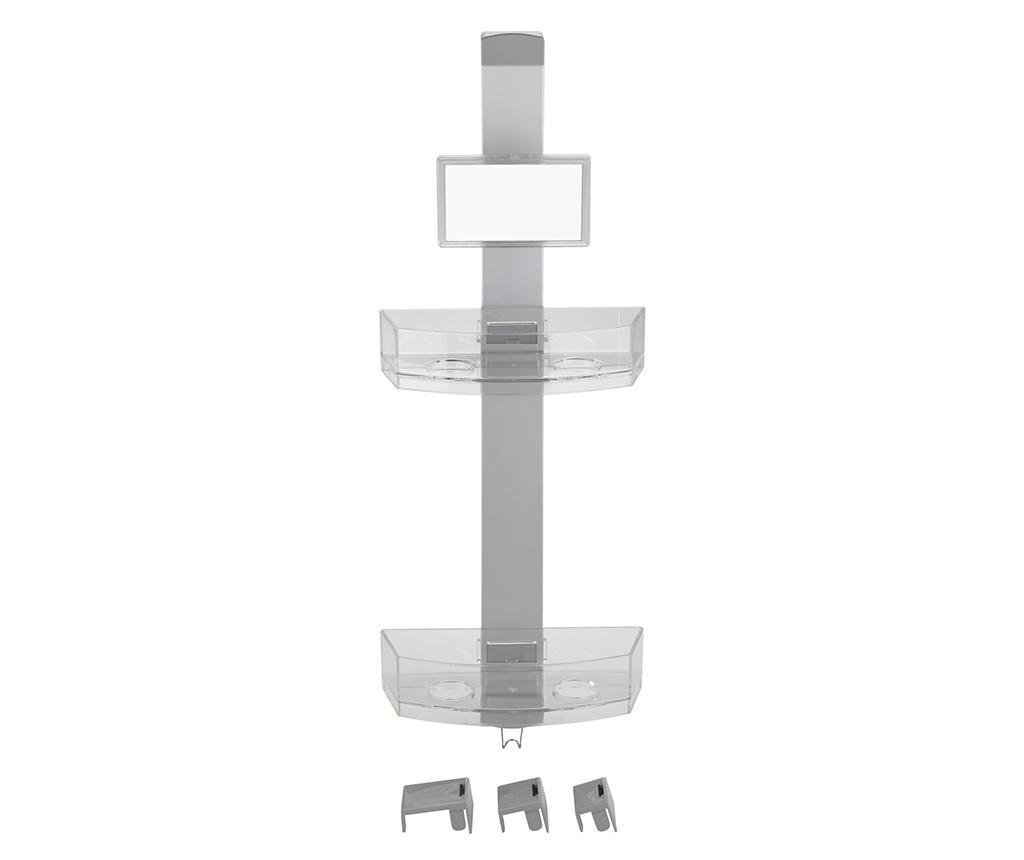Suport accesorii de baie Premium - Wenko, Gri & Argintiu