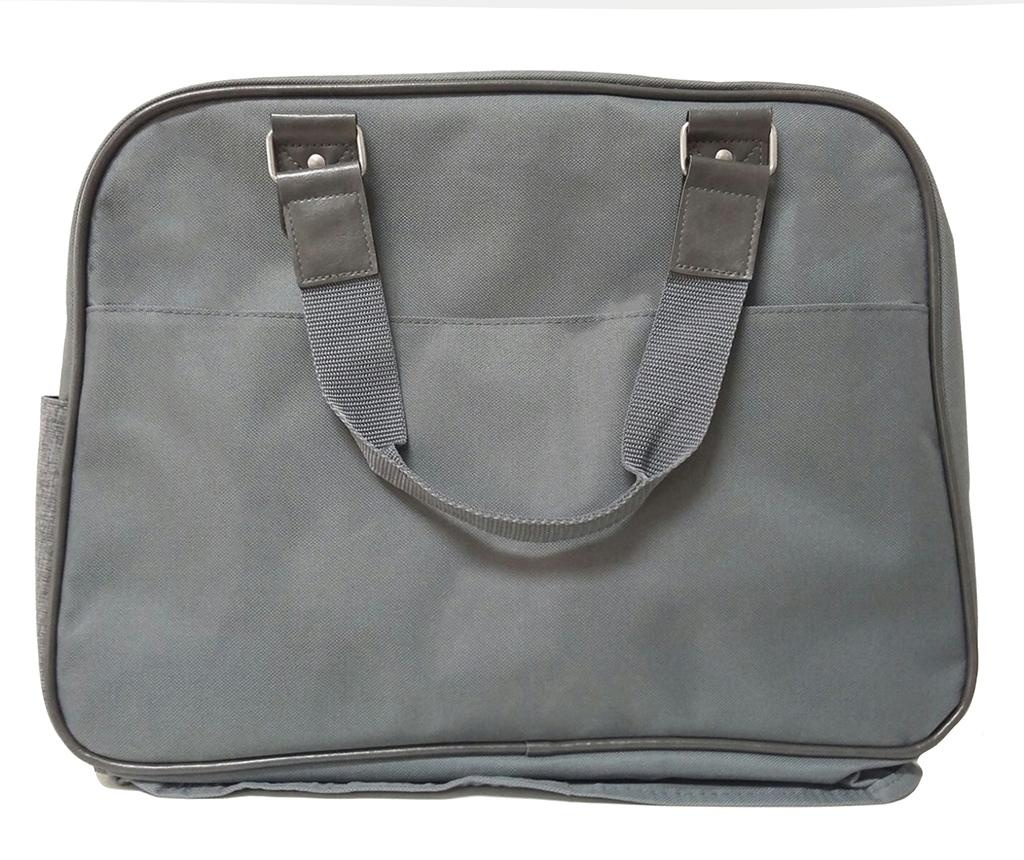 Set - torba, zložljiva podloga za previjanje in držalo za stekleničko Life Grey