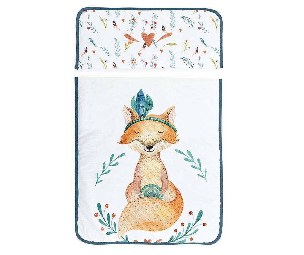Set - otroška psteljica z baldahinom in dodatki Fox