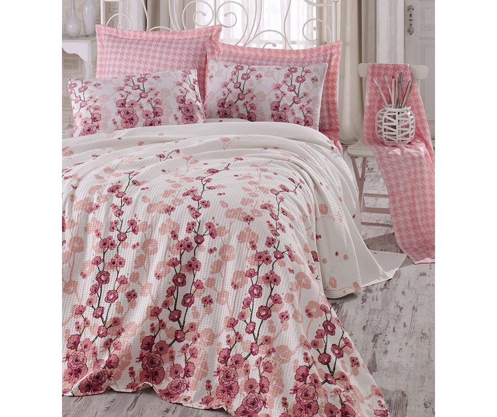 Coretta Pink Salmon Pique ágytakaró 220x240 cm