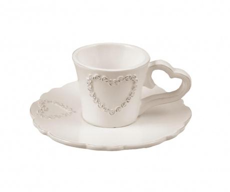 Комплект чашка и чинийка за кафе Pure Heart