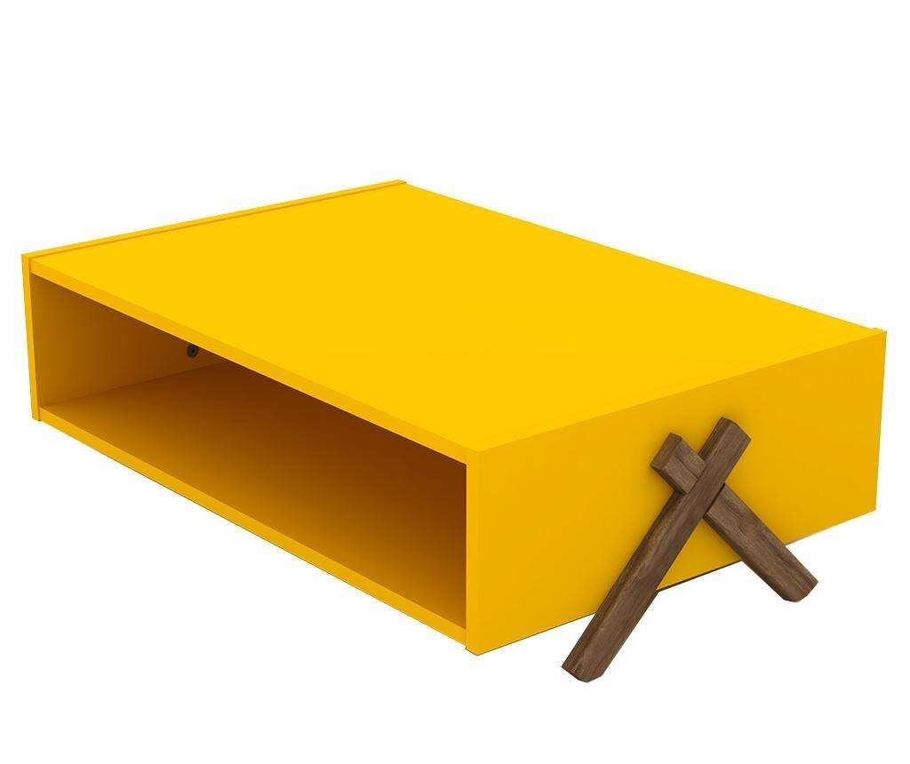 Kipp Walnut Yellow Dohányzóasztal