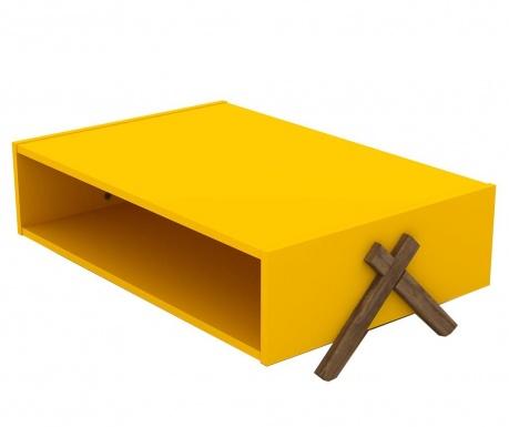 Klubska mizica Kipp Walnut Yellow