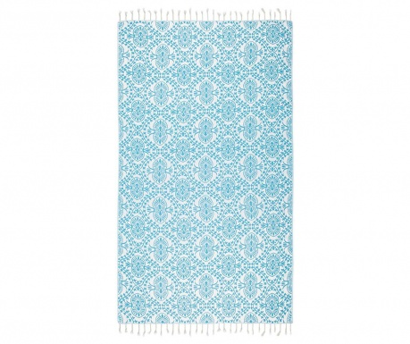 Kopalniška brisača Peshtemal Bianca Soft Turquoise 100x165 cm
