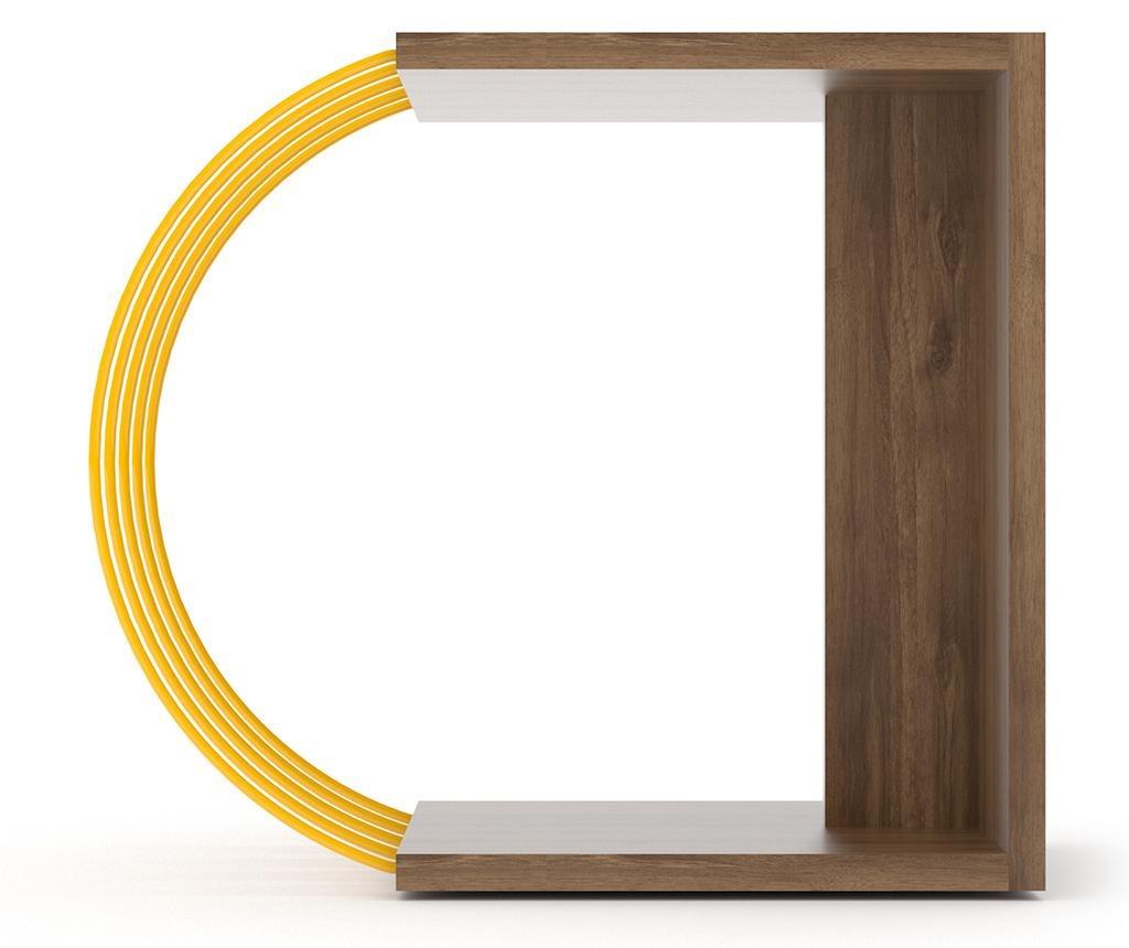 Case Walnut Yellow Asztalka