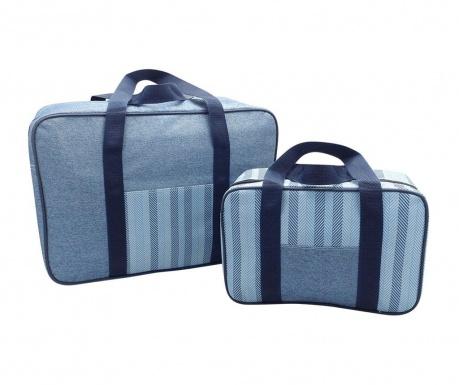 Sada 2 termoizolačné tašky Snap Denim