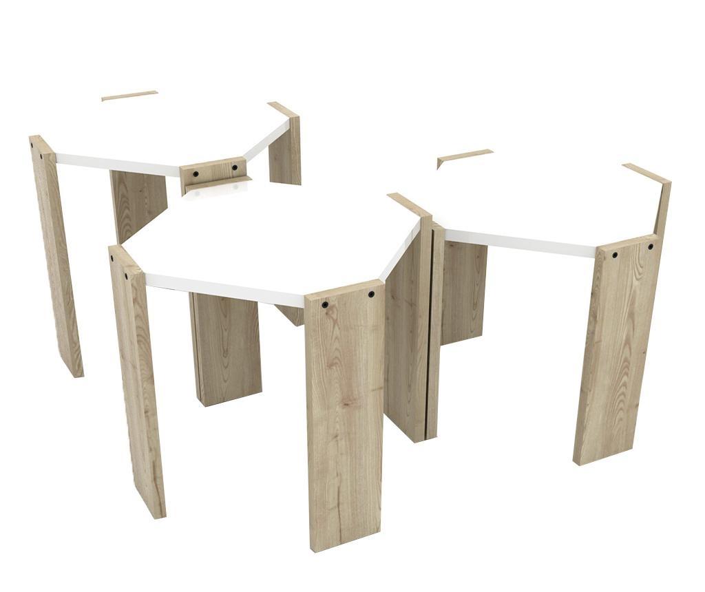 Rafevi Hansel Oak White 3 db Asztalka