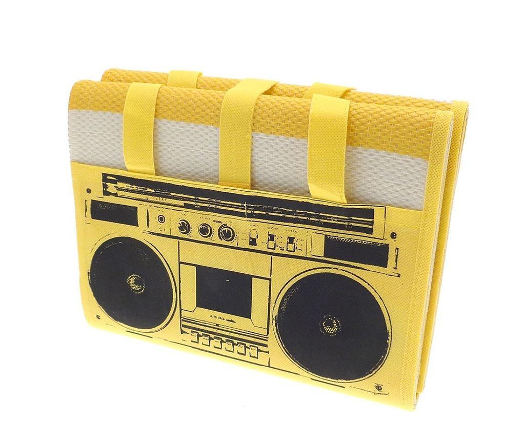 Rogojina de plaja Beach Radio Yellow 90x180 cm