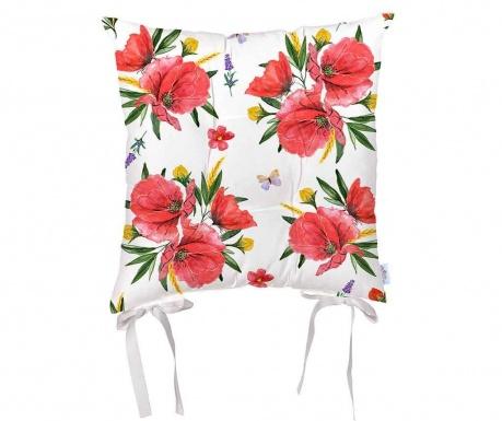 Възглавница за седалка Poppy Lover 43x43 см