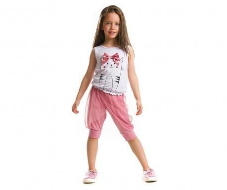 Set tricou si pantaloni trei sferturi pentru copii Cat Harem