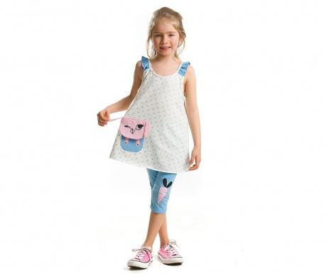 Set tunica si colanti trei sferturi pentru copii Pocket Bunny