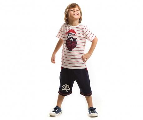 Set tricou si pantaloni scurti pentru copii Pirates
