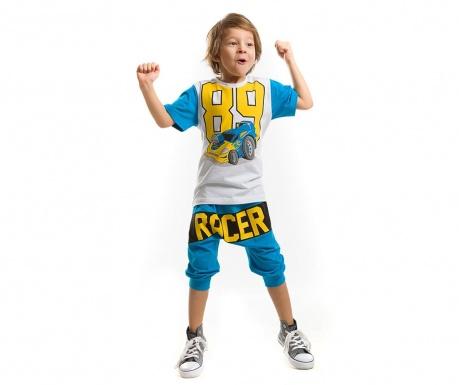Otroški komplet - majica s kratkimi rokavi in tričetrt hlače Racer 89 Baggy 3 let