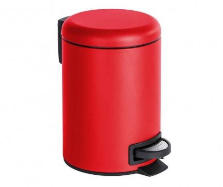 Кош за отпадъци с капак и педал Leman Red 3 L