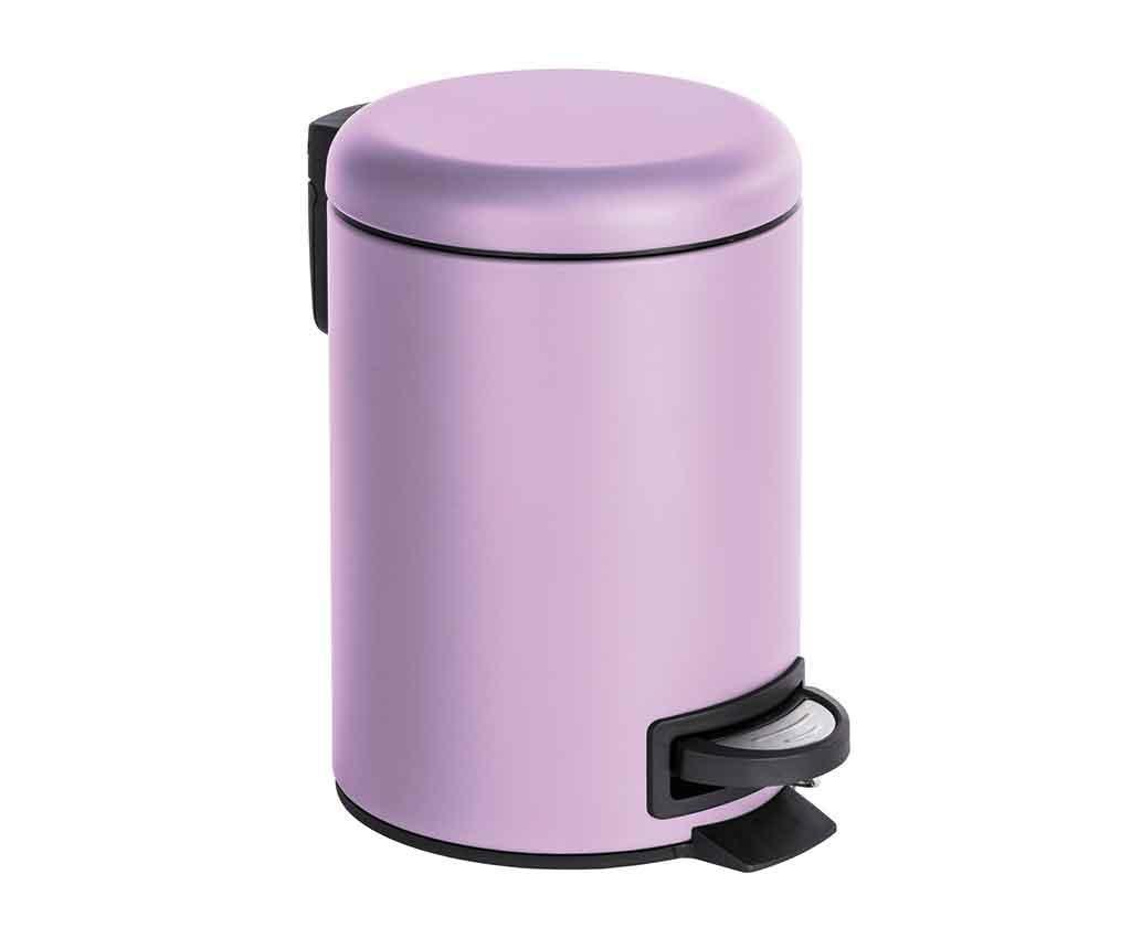 Kanta za smeće s poklopcem i pedalom Leman Lilac 3 L