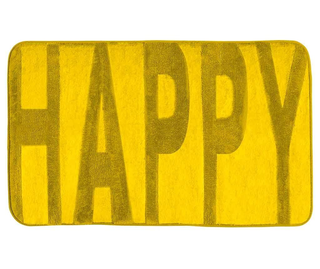 Kupaonski tepih Happy Yellow 50x80 cm