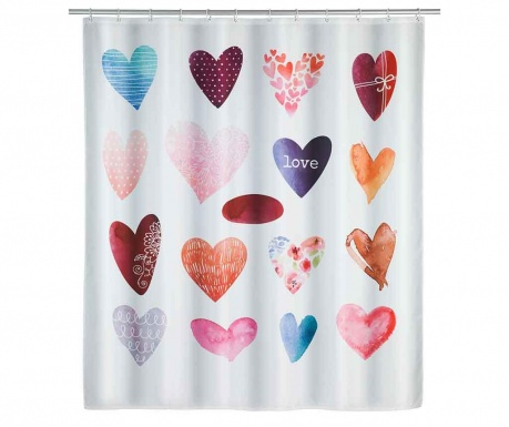Sprchový záves Love 180x200 cm