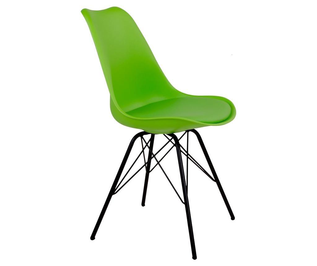 Sada 2 židlí Oslo Green Black