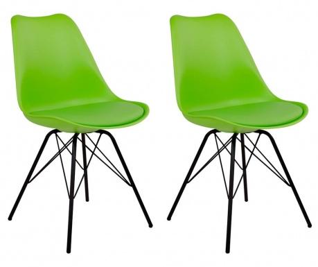 Sada 2 stoličiek Oslo Green Black