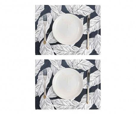 Set 2 individualuri Geometric Palm Leaf 33x45 cm