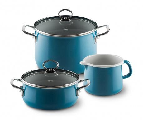 5-dijelni set posuda za kuhanje Aquamarine