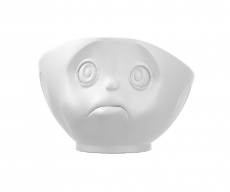 Sadface White Matt Mély tál 500 ml