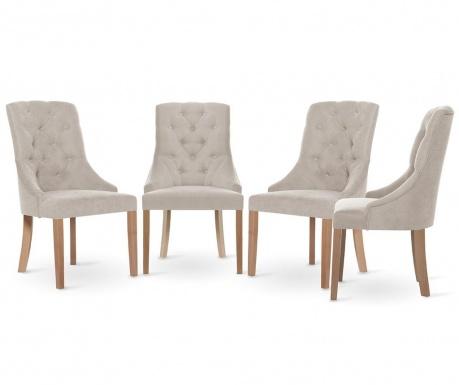 Set 4 scaune Jalouse Maison Chiara Cream