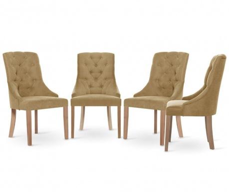 Set 4 scaune Jalouse Maison Chiara Camel