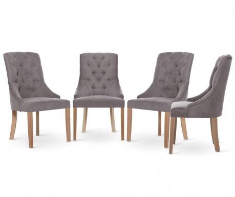 Set 4 scaune Jalouse Maison Chiara Taupe