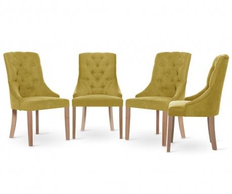 Set 4 scaune Jalouse Maison Chiara Yellow