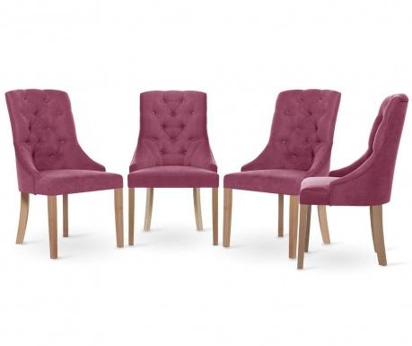 Set 4 scaune Jalouse Maison Chiara Fuchsia