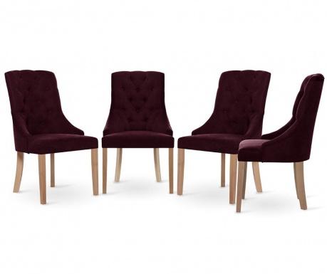 Set 4 scaune Jalouse Maison Chiara Bordeaux