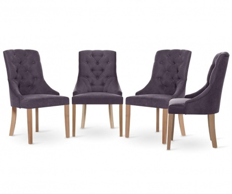 Set 4 scaune Jalouse Maison Chiara Lavender