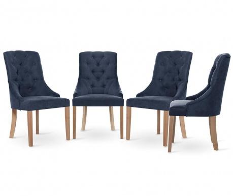 Set 4 scaune Jalouse Maison Chiara Blue