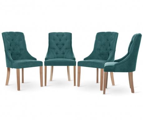 Set 4 scaune Jalouse Maison Chiara Lagune
