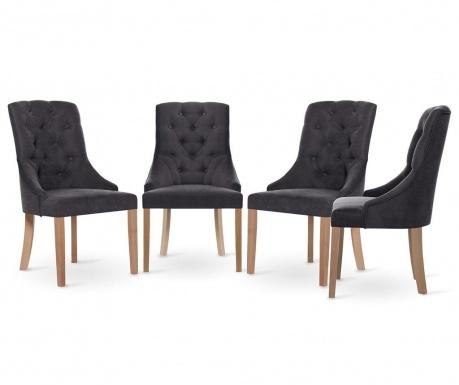 Set 4 scaune Jalouse Maison Chiara Anthracite