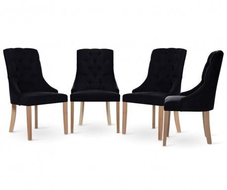 Set 4 scaune Jalouse Maison Chiara Black