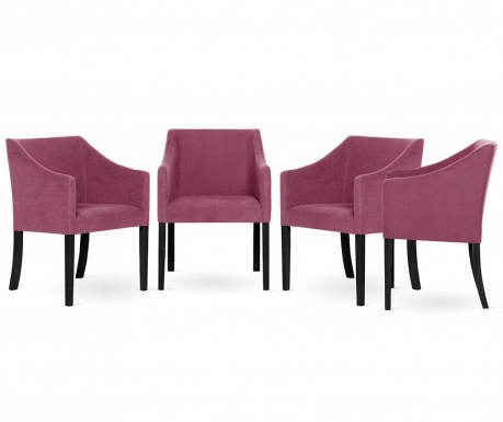 Set 4 scaune Guy Laroche Home Illusion Fuchsia